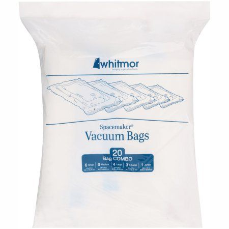 Whitmor Spacemaker Vacuum Storage Bags, Set of 20, Clear