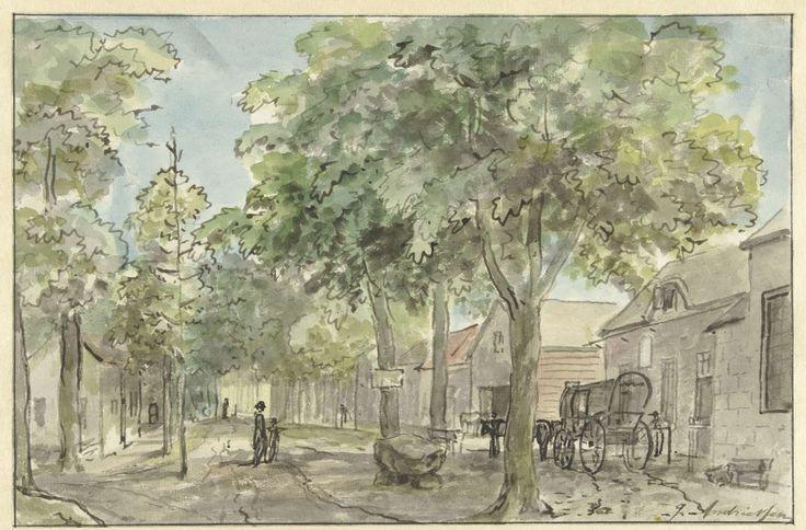 Dorpsstraat in Lage Vuursche, Jurriaan Andriessen, 1800