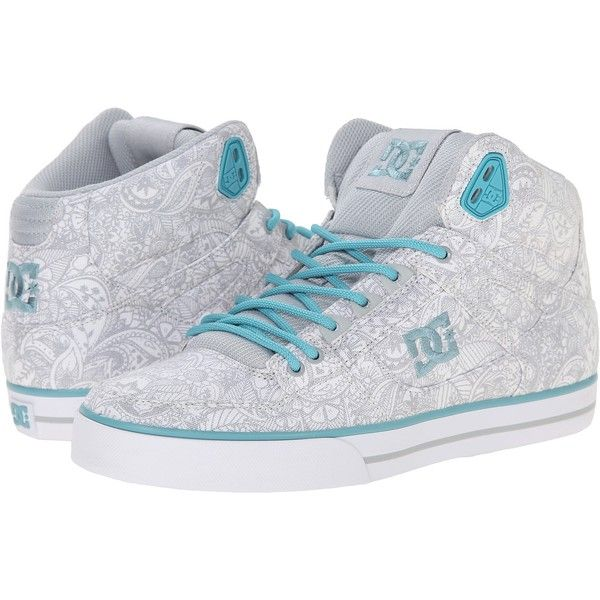 DC Spartan High WC SP Women's Skate Shoes, White ($43) ❤ liked on Polyvore featuring shoes, sneakers, white, cushioned shoes, hi top skate shoes, dc shoes high tops, white trainers and white shoes