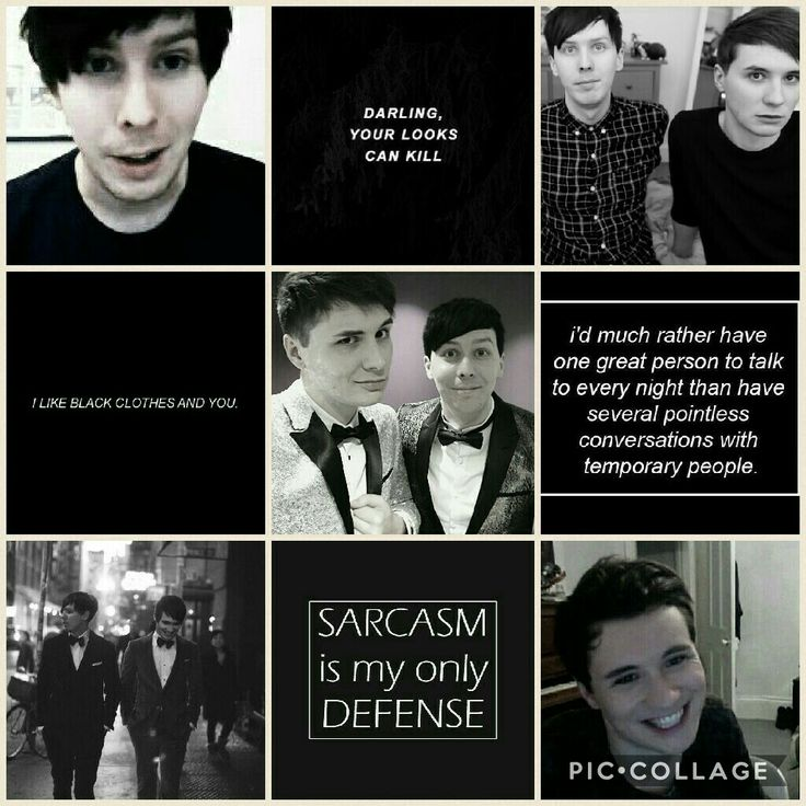 dan and phil black aesthetic // by danandphilmoodboards on tumblr