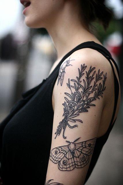 My lady friend's tattoo, Alice Carrier. Portland oregon