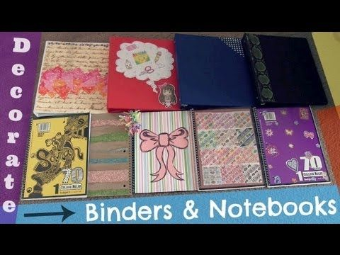 Decorate Binders & Notebooks! Back-To-School DIY