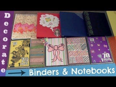 Decorate Binders & Notebooks! Back-To-School DIY
