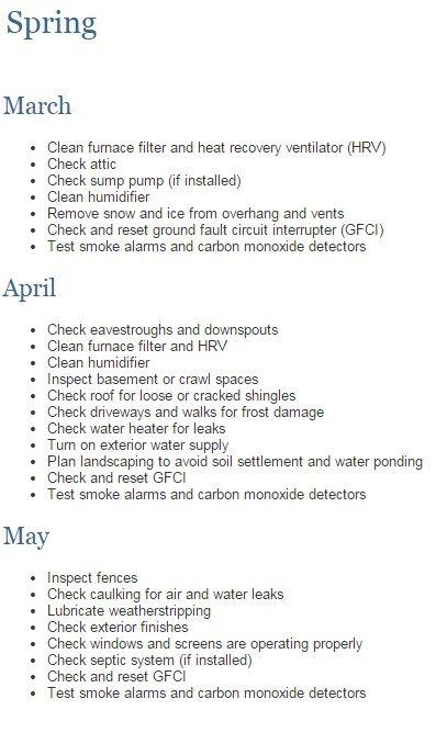 Spring Homeowner Maintenance List ! #newhome #construction #warranty #homemaintenance #Tarion #spring