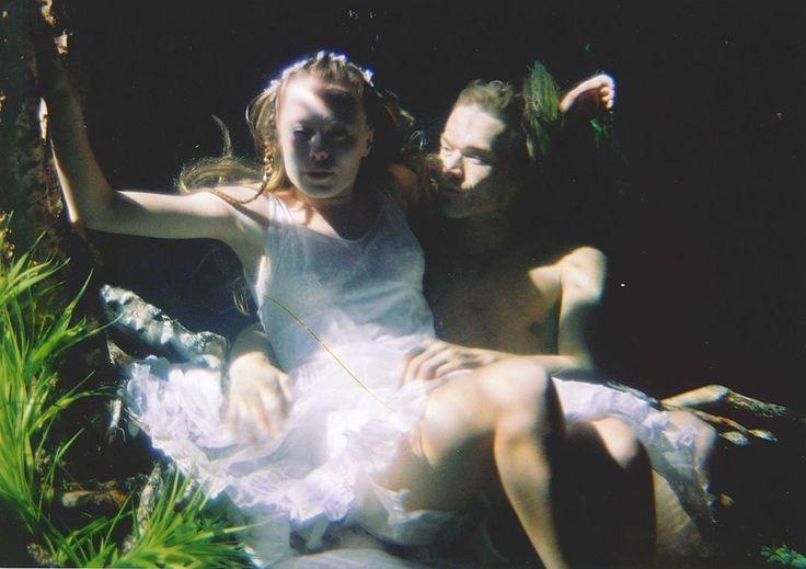 Linda Rybova and Dan Barta during shooting underwater realm in Wild Flowers. #WildFlowers #Erben #Waterman #Kytice #Vodnik #LindaRybova #DanBarta