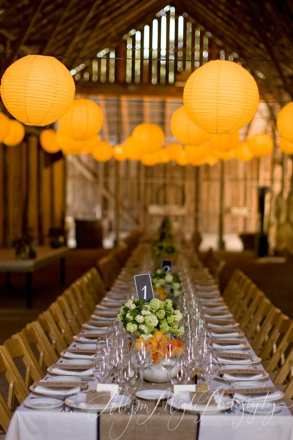 warm yellow and orange wedding inspiration, reception in orange and yellow