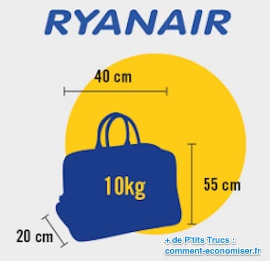 Taille maximale bagage à main ryanair