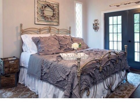 Quilt Ideas For Master Bedroom : Anthropologie rivulets quilt as seen on fixer upper! Love this quilt! Bedroom dream ...