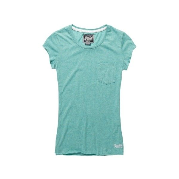 Superdry Vintage Pocket T-shirt ($35) ❤ liked on Polyvore featuring tops, t-shirts, hot mint, shirts, tee-shirt, embroidered t shirts, mint green shirt, mint t shirt and embroidery t shirts