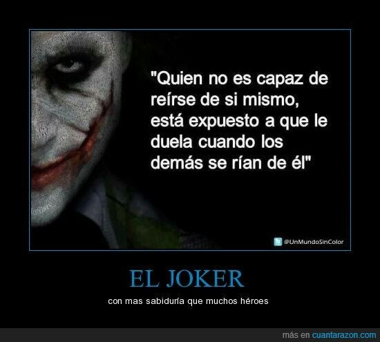 Pues si , Joker. El Caballero Oscuro.