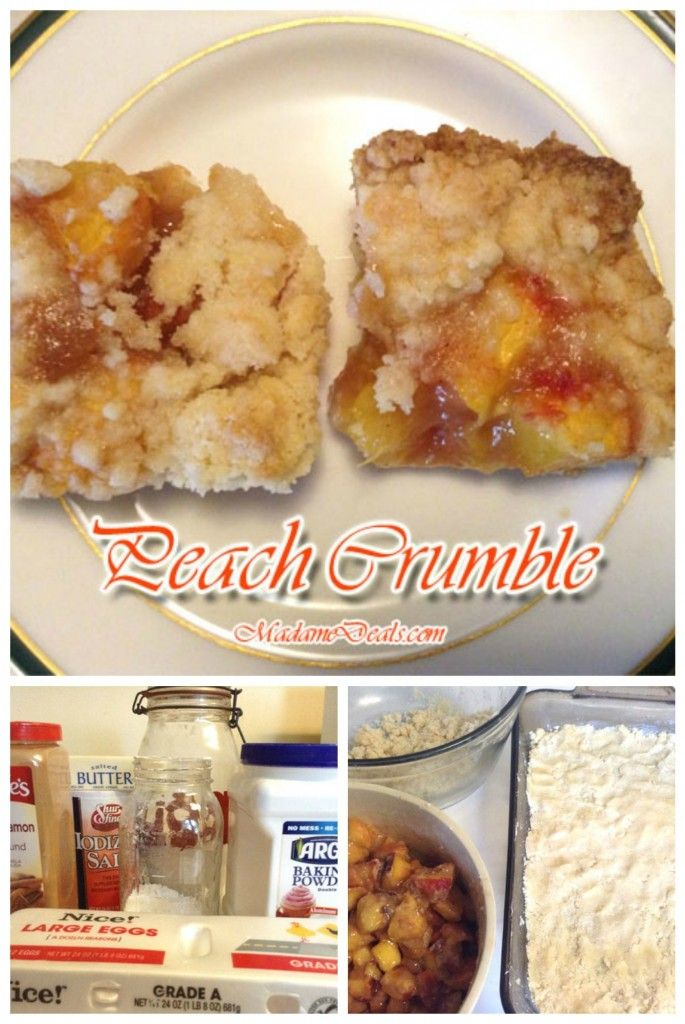 Recipes for Snacks for Kids: Peach Crumble Bars #recipe