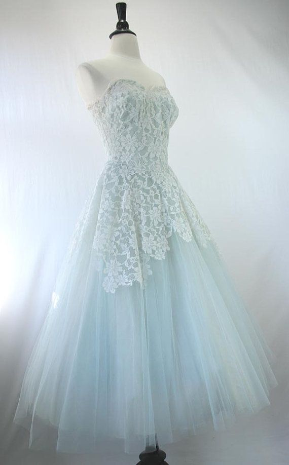25  best ideas about Blue vintage dresses on Pinterest | 1950s ...