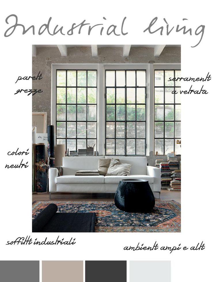 Stile industrial per il soggiorno. Gli elementi di base.