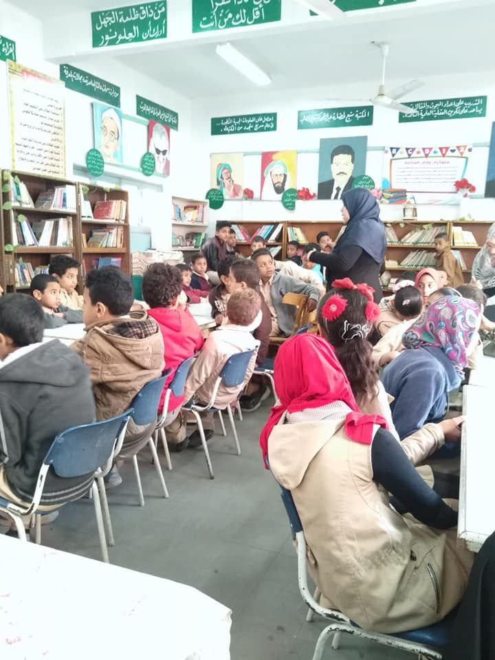 لافتات للمكتبة المدرسية بالعلم تجذب العقول وبالأخلاق تجذب القلوب مصطفى نور الدين