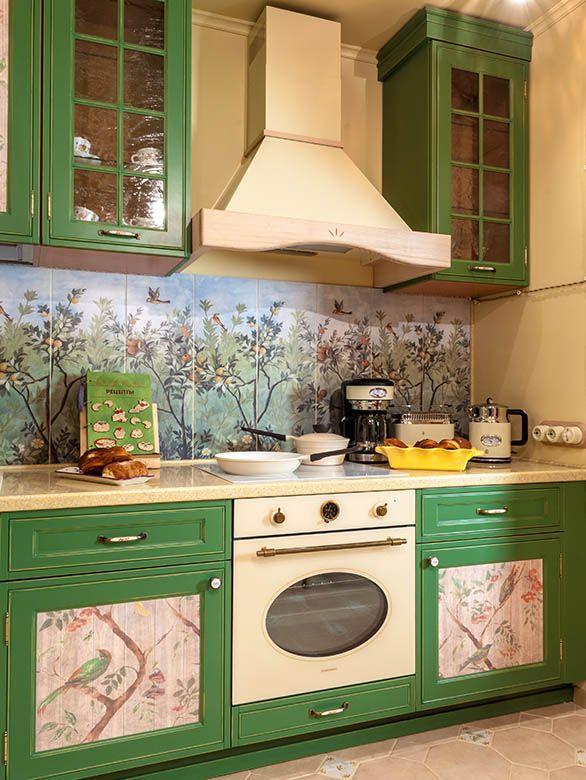 стеновая панель кухни в стиле прованс фото администратором