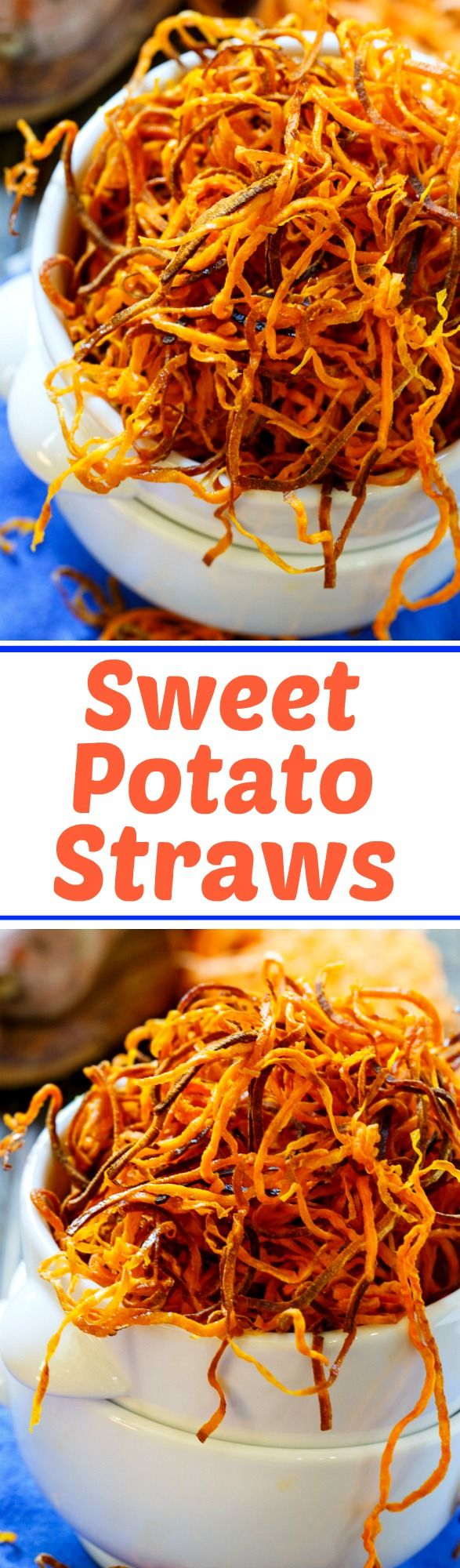 Sweet Potato Straws- baked in the oven until crispy!