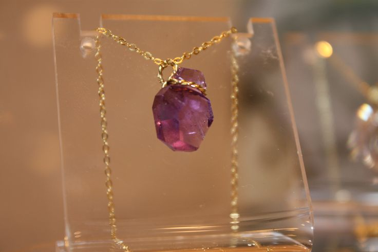 Amethyst 10,92ct Handmade K18 with chain K14
