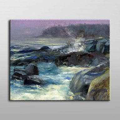 Hand Painted Oil Painting Landscape Gull Cove, Monhegan Island, Maine by Hall Groat II with Stretched Frame – AUD $ 121.99