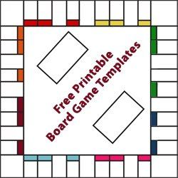 Free printable game board templates to recycle game boards into new games