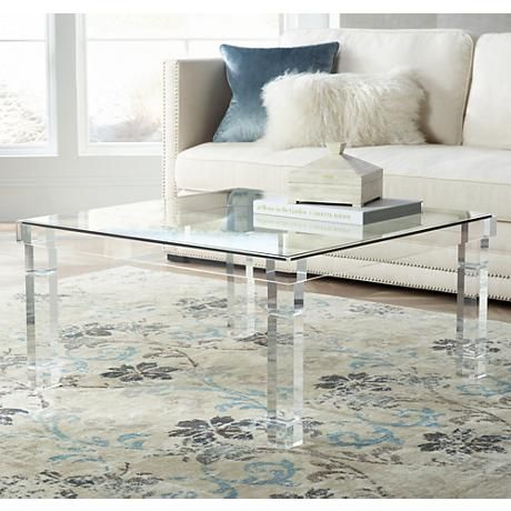 Bristol Square Clear Acrylic Coffee Table  499.00