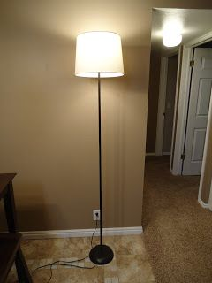 Torchiere lamp easy makeover. Cobblestones & Ivy: floor lamp makeover