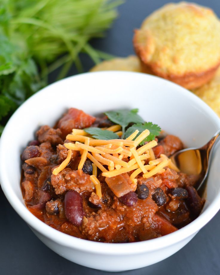 This chili is packed full of venison, beans and tons of flavorful smoky spices like chipotle and smoked paprika. It's the perfect way to branch out from the usual ground beef!