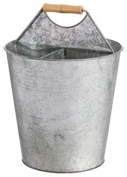 Galvanized Metal 4-Part Bucket contemporary-cleaning-buckets