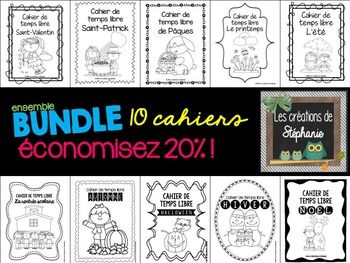 Ensemble de cahiers de temps libre { BUNDLE }