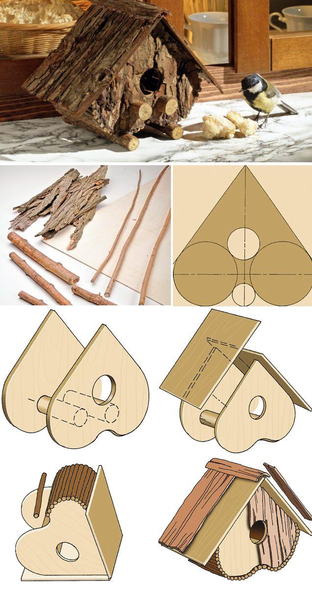 #tutorial per costruire una casetta per uccellini   #tutorial wood home birds