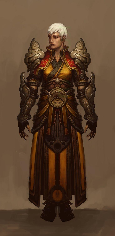 Diablo III's Female Monk Concept Art