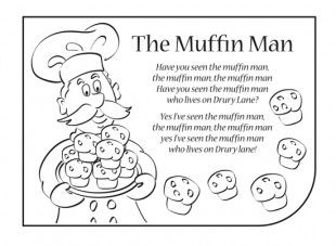 Nursery rhymes are a great way to introduce your child to rhythm, music and early literacy and numeracy skills. Print this activity of nursery rhyme lyrics, so your child can have fun singing along to the lyrics of The Muffin Man! You can also download our Muffin Man mp3.