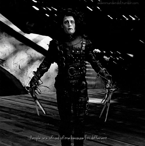 frankenstein and edward scissor hands appearance vs reality Great memorable quotes and script exchanges from the edward scissorhands edward lives alone in it seems clear that his awareness of what we call reality is.