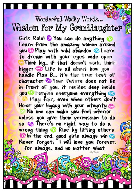 For my precious and beautiful granddaughters ~ Berkli & Myla...and soon to be Allie :)