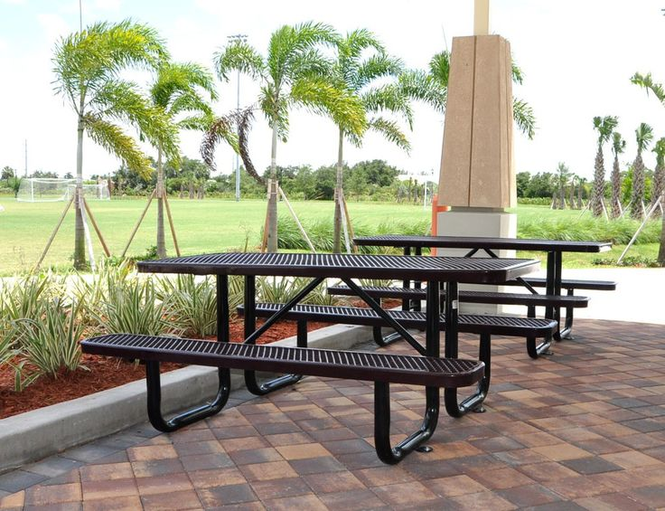 6-Ft. Rectangular Expanded Metal Picnic Table