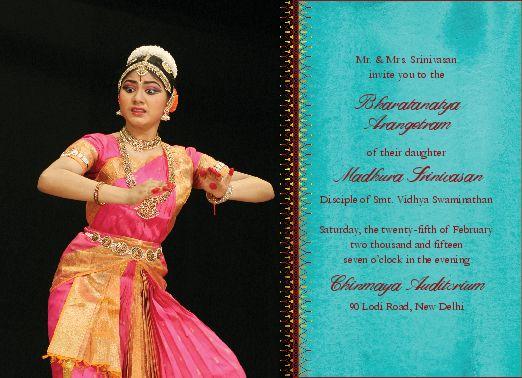 17 best Arangetram Invitation Cards images on Pinterest Invitation