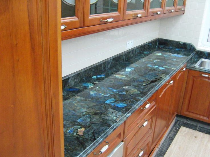 Labradorite Is A Luxury Option For Kitchen Countertops. Like All Other  Natural Stones, It