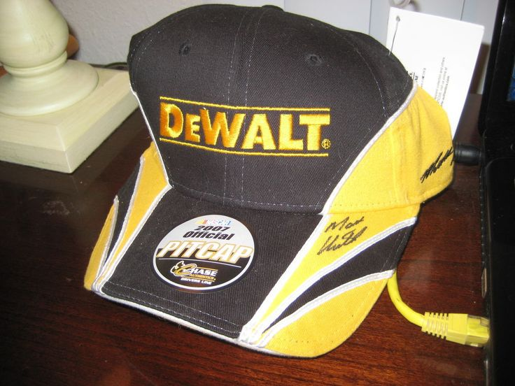 matt kenseth signed nascar hat; new; dewalt cap/hat;2007 pitcap;chase authentic from $19.99