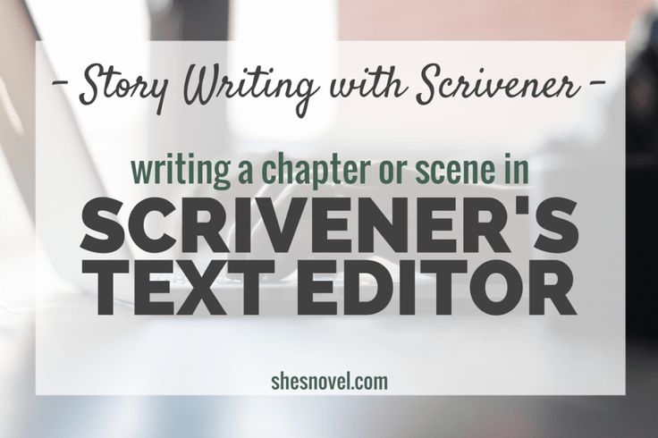 Writing a Chapter or Scene in Scrivener's Text Editor from the Story Writing with Scrivener mini-series on ShesNovel.com #scrivener #writing #writingtips