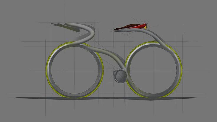 bike design sketch photoshop draw painting bicycle