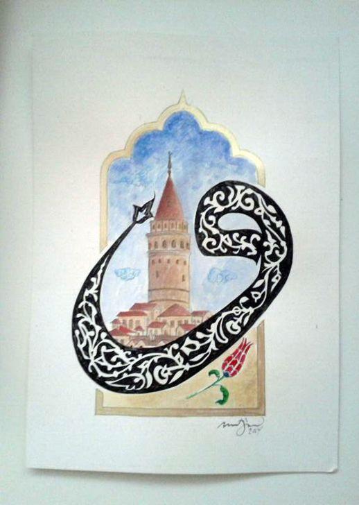 VAV Harfi ve Galata Kulesi www.rolyefart.com