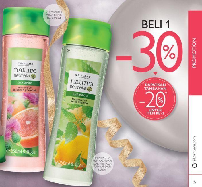 Promo Harga Diskon  Katalog oriflame September 2016 Nature Secrets Shampoo for Greasy Hair Nettle & Lemon 22701 250 ml . Rp 69.000,- menjadi HANYA Rp 47.900,- * Beli 2 Nature Secrets Shampoo for Greasy Hair Nettle & Lemon  menjadi HANYA Rp 37.900,- /produk