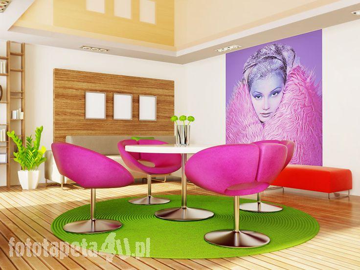 Color Woman Wallpaper by Fototapeta4u.pl