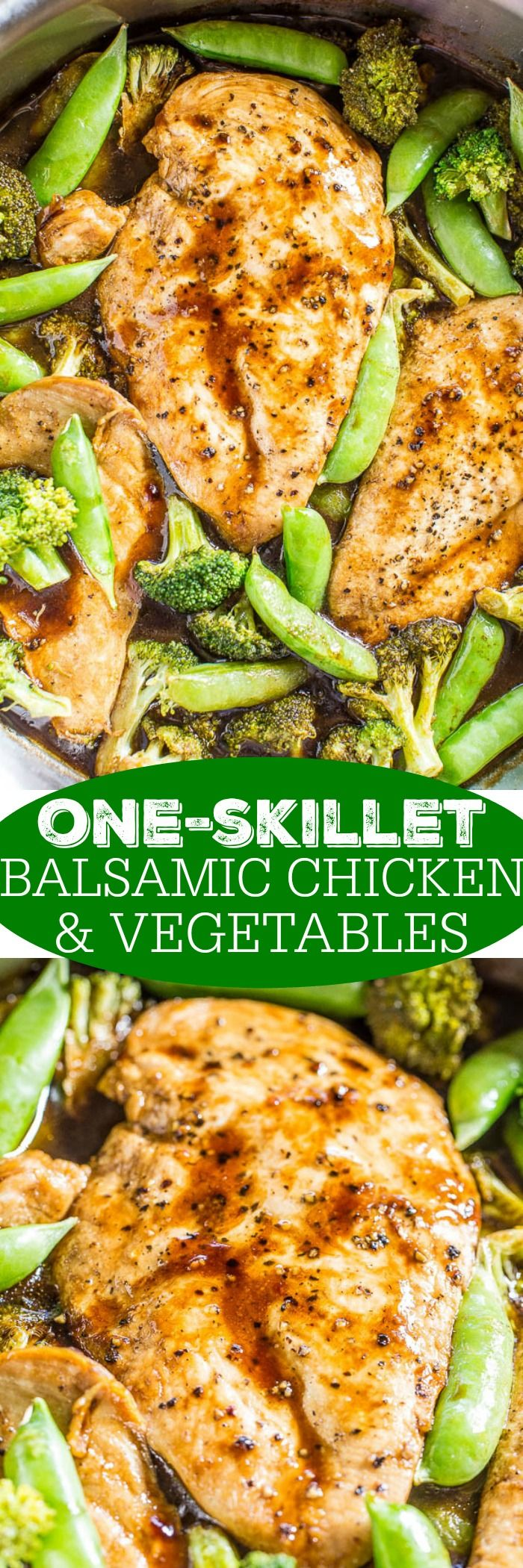 One-Skillet Balsamic Chicken and Vegetables | chicken | Pinterest ...
