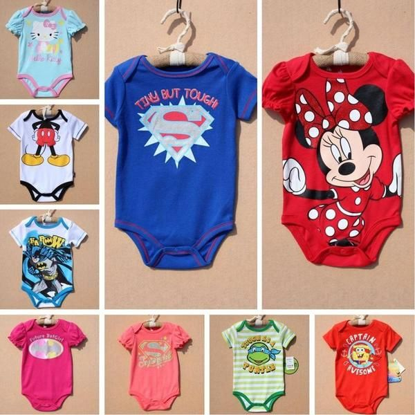 Европейские и американские большие мужчины и женщины ребенка летом с короткими рукавами одежды восхождение новорожденного Romper короткий весь пакет пердеть одежда детская одежда фотографии
