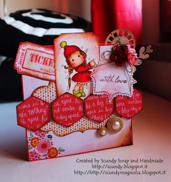 """Scundy Scrap and Handmade: Card """"Show the way Tilda"""""""