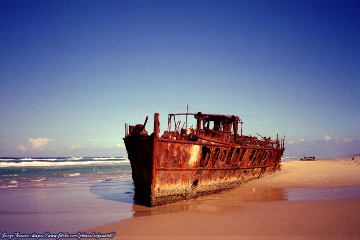 #Maheno #Shipwreck, #Fraser #Island in #Queensland, #Australia  #Book #Cheap #Flights to Australia with #TravelCenterUK http://www.travelcenteruk.co.uk/cheap-flights-to-australia.php