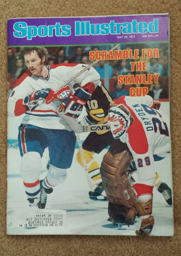 1978 Sports Illustrated Montreal Canadiens Boston Bruins Ken Dryden Stanley Cup