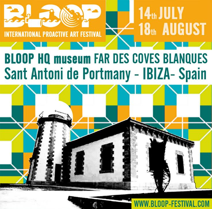 The brains that coordinate and emit all the BLOOP operations is Far des Coves Blanques, the headquarters, located on the seaside walk to Cafe del Mar. The old lighthouse (HQ) will be a jack-in-a-box of endless astonishment cradling paintings, installations, sculptures, IT visual installations. @Bloop Festival #bloopfestival @BIOKIP biokip #biokp