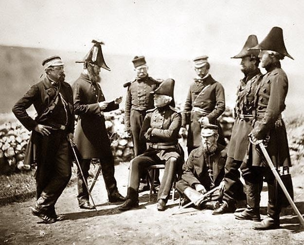 British officers of the Light Division. Taken during the Crimean War by Roger Fenton.: