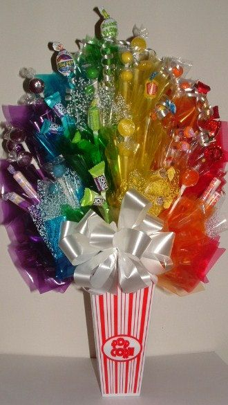 CARNIVAL / CIRCUS Popcorn DESIGNER Candy Bouquet by CandyFlorist, $59.00